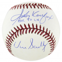 "Sandy Koufax & Vin Scully Signed OML Baseball Inscribed ""BK to LA"" (Beckett COA & Steiner Hologram) at PristineAuction.com"