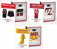 KOBE BRYANT, LEBRON JAMES & MICHAEL JORDAN GAME WORN MYSTERY SWATCH BOXES! at PristineAuction.com