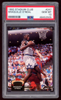 Shaquille O'Neal 1992-93 Stadium Club #247 RC (PSA 10) at PristineAuction.com