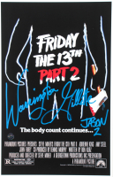 "Warrington Gillette Signed ""Friday The 13th Part 2"" 11x17 Movie Poster Print Inscribed ""Jason 2"" (Legends COA) at PristineAuction.com"