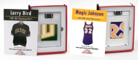 LARRY BIRD & MAGIC JOHNSON GAME WORN MYSTERY SWATCH BOXES! YOU GET BOTH! at PristineAuction.com