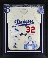 Sandy Koufax & William Zavala Signed Dodgers 37x44 Custom Framed Hand-Painted Jersey Display (Beckett LOA) at PristineAuction.com