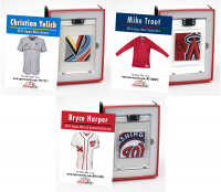 MIKE TROUT, BRYCE HARPER & CHRISTIAN YELICH GAME WORN MYSTERY SWATCH BOXES! at PristineAuction.com