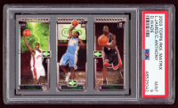 2003-04 Topps Rookie Matrix #JAW LeBron James 111 RC / Carmelo Anthony 113 RC / Dwyane Wade 115 RC (PSA 9) at PristineAuction.com