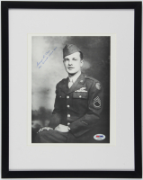 "George R. Caron Signed 11.75x14.75 Custom Framed Photo Display Inscribed ""Tail Gunner - Enola Gay"" (PSA LOA) at PristineAuction.com"