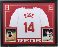 Pete Rose Signed 35x43 Custom Framed Jersey (Fiterman Hologram) (Imperfect) at PristineAuction.com