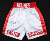 "Larry Holmes Signed Boxing Trunks Inscribed ""Peace 2020"" (PSA COA) at PristineAuction.com"