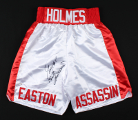 """Larry Holmes Signed Boxing Trunks Inscribed """"Easton Assasin"""" (PSA COA) at PristineAuction.com"""