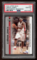 LeBron James 2003-04 Upper Deck Phenomenal Beginning #16 (PSA 10) at PristineAuction.com