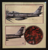 "Eminem ""Shady"" Signed 30x32 Custom Framed Lithograph & Kamikaze Red LP Display (JSA LOA) at PristineAuction.com"