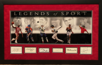 """Legends of Sport"" 27.5x43.5 Custom Framed Cut Display Signed by (6) with Michael Jordan, Wayne Gretzky, Tom Brady, Derek Jeter, Muhammad Ali & Tiger Woods (JSA LOA & JSA COA) at PristineAuction.com"