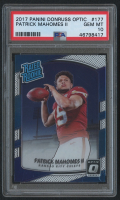 Patrick Mahomes 2017 Donruss Optic #177 II RR RC (PSA 10) at PristineAuction.com