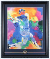"""LeRoy Neiman """"Reggie Jackson"""" 16x19 Custom Framed Print Display with Official Hall of Fame Induction Pin at PristineAuction.com"""