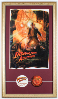 "Disneyland ""Indiana Jones Adventure: Temple of the Forbidden Eye"" 15x26 Custom Framed Poster Print with Pre Ride Opening Decal at PristineAuction.com"