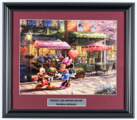 "Thomas Kinkade ""Mickey & Minnie Mouse"" 14x16 Custom Framed Print Display at PristineAuction.com"