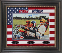 "Jack Nicholson, Peter Fonda, & Dennis Hopper Signed ""Easy Rider"" 26.5x31 Custom Framed Photo Display (Beckett LOA) at PristineAuction.com"