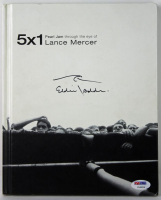 "Eddie Vedder Signed ""5x1: Pearl Jam Through the Eyes of Lance Mercer"" Hardcover Book with Hand-Drawn Sketch (PSA LOA) at PristineAuction.com"