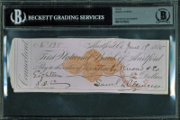 "Samuel Clemens ""Mark Twain"" Signed 1875 Bank Check (BGS Encapsulated) at PristineAuction.com"