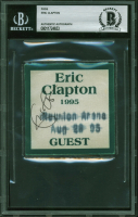Eric Clapton Signed 1995 Concert Guest Pass (BAS Encapsulated) at PristineAuction.com