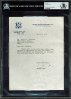 George H.W. Bush Signed 1971 UN Letter (BAS Encapsulated) at PristineAuction.com