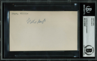 Willie Mays Signed 3.5x5.5 Index Card (BAS Encapsulated) at PristineAuction.com