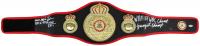 """Iron"" Mike Tyson Signed Full-Size WBA Championship Belt Inscribed ""HOF 2011"", ""50-6 44 KOs"", ""WBC WBA IBF Champ"" & ""Youngest Champ"" (PSA COA) at PristineAuction.com"