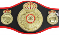 """Iron"" Mike Tyson Signed Full-Size WBA Championship Belt Inscribed ""HOF 2011"", ""50-6 44 KOs"", ""WBC WBA IBF Champ"" & ""Youngest Champ"" (PSA COA) at PristineAuction.com"
