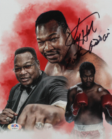 """Larry Holmes Signed 8x10 Photo Inscribed """"Easton Assasin"""" (PSA COA) at PristineAuction.com"""