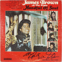 "James Brown Signed ""Handful of Soul"" Vinyl Album Cover Inscribed ""My Best Wishes"" (Beckett LOA) at PristineAuction.com"