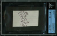 James Dean 2x3.5 Handwritten Sample (JSA Encapsulated & JSA LOA) at PristineAuction.com