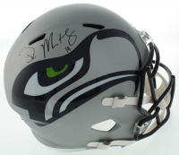 DK Metcalf Signed Seahawks Full-Size AMP Alternate Speed Helmet (Beckett COA) at PristineAuction.com