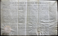 James Monroe Signed 1823 Land Grant Document (Beckett LOA) at PristineAuction.com