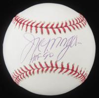 "Joe Morgan Signed OML Baseball Inscribed ""HOF 90"" (Mounted Memories Hologram & MLB Hologram) at PristineAuction.com"