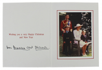 "Princess Diana & Prince Charles Signed 1989 6x8 Christmas Card Inscribed ""From"" (Beckett LOA) at PristineAuction.com"