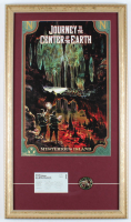 """Journey To The Center Of The Earth"" 15x26 Custom Framed Print with Tokyo Disneyland Ticket & VIP Badge at PristineAuction.com"