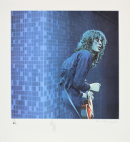 "Jimmy Page Signed AP ""Led Zeppelin"" 30x33 Lithograph (Beckett LOA) at PristineAuction.com"