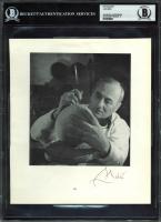 Joan Miro Signed 8x9 Photo (BAS Encapsulated) at PristineAuction.com