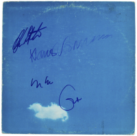 """Plastic Ono"" Vinyl Album Cover Band-Signed by (4) with Eric Clapton, Yoko Ono, Lkaus Voormann, & Alan White (Becket LOA) at PristineAuction.com"