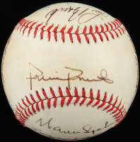 MLB Hall of Famers ONL Baseball Signed by (11) with Warren Spahn, Willie Stargell, Billy Williams, Frank Robinson, Lou Brock (PSA LOA) at PristineAuction.com