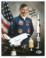 "John W. Young Signed NASA 8x10 Photo Inscribed ""Best Wishes"" (Beckett COA) at PristineAuction.com"