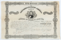 1879 $500 Five Hundred Dollar Confederate States Loan Bank Note at PristineAuction.com