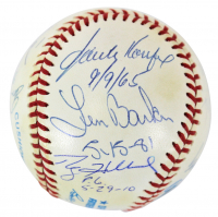 """Perfect Game"" OAL Baseball Signed by (11) with Don Larson, Sandy Koufax, Jim Catfish Hunter with Multiple Inscriptions (JSA LOA & MAB Hologram) at PristineAuction.com"