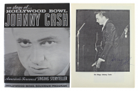 Johnny Cash Signed Hollywood Bowl Program (Beckett LOA) at PristineAuction.com