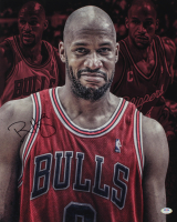 Ron Harper Signed Bulls 16x20 Photo (PSA COA) at PristineAuction.com
