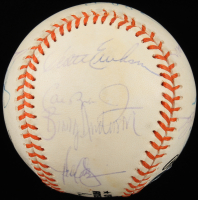 1995 Orioles OAL Baseball Team-Signed by (13) with Cal Ripken Jr., Rafael Palmeiro, Scott Erickson, Bobby Bonilla, Brady Anderson (PSA LOA) at PristineAuction.com
