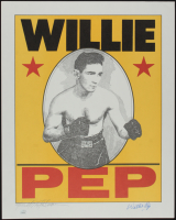 Willie Pep Signed LE 16x20 Lithograph (JSA COA) at PristineAuction.com