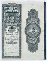 1970-72 $1000 One Thousand Dollar The New York Central & Hudson River Railroad Company Bank Bond with Uncut Sheet of (5) $17.50 Seventeen Dollars and Fifty Cents Bonds at PristineAuction.com