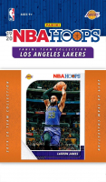 2019-20 Hopps Los Angeles Lakers Complete Sealed Team Set with LeBron James #87, Anthony Davis #89, Rajon Rondo #273 at PristineAuction.com