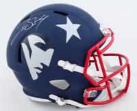Jarrett Stidham Signed Patriots Full-Size AMP Alternate Speed Helmet (PSA COA) at PristineAuction.com