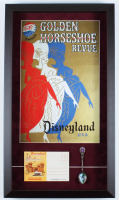 "Disney ""Golden Horseshoe Revue"" 14.5x25.5 Custom Framed Print with Disneyland Spoon & Photo Portfolio at PristineAuction.com"